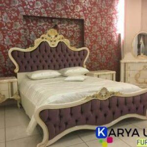 desain tempat tidur modern atau dipan ukir Jepara dengan bahan material kayu jati pilihan yang sengaja kami desain untuk kamar mewah