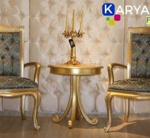 Jual Kursi teras mewah dengan gaya modern buatan karya ukir furniture Jepara atau kursi pajangan dengan desain yang sangat menarik dan juga elegan