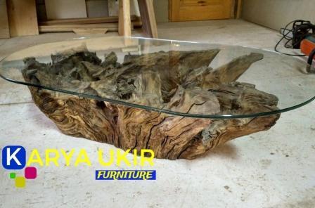 Jual murah Meja akar kayu jati atau yang biasa disebut dengan meja akar pohon alami yang digali dari pohon hutan Blora