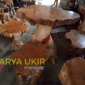 Kursi akar kayu Solid atau yang biasa disebut dengan kursi padat kayu jati dengan kualitas terbaik dan harga paling murah dan kokoh